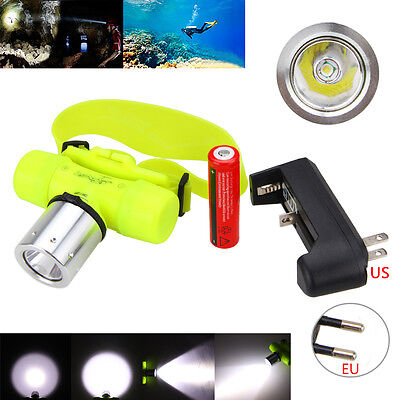 Underwater 5000LM XM-L T6 LED Waterproof Headlamp Headlight Hand Torch Lamp Hot