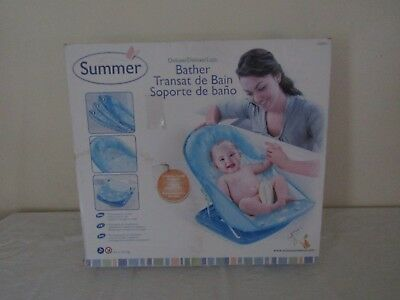 New Summer Deluxe Bather  Bath Seat In Blue.