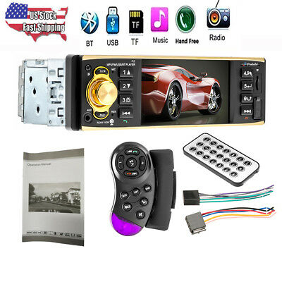 "4.1"" HD Single 1DIN Car Stereo Video MP5 Player Bluetooth FM Radio AUX/USB/SD/TF"