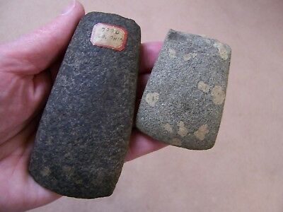 Two Nice Authentic Hardstone Celts From The Greg Neumann Collection