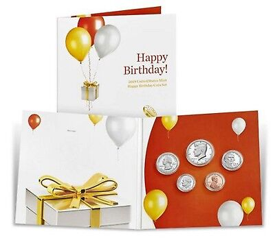 2019 Happy Birthday Coin Set All Proof Coins 5 Total Coins GEM IN HAND