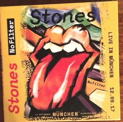 """The Rolling Stones """"live In Munchen 12.09.17"""" Rare Double Cd Neuf !"""