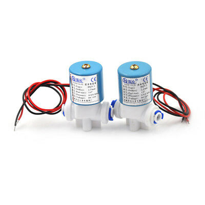 """1x DC24V 1/4""""Electric Solenoid Valve N/C Feed For RO Water Air Quick Connect TB"""
