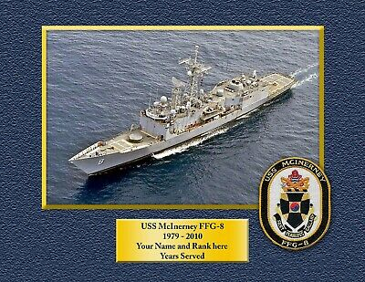 USS McInerney FFG-8 US NAVY HAT PIN FRIGAT USS Oliver Hazard Perry Class NS WOW