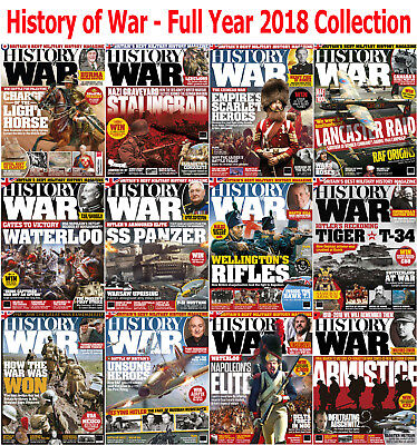 History of War - 12 Magazines - Full Year 2018 Collection - Digital PDF