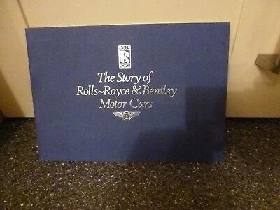The Story Of Rolls Royce & Bentley Motor Cars Blue Cover