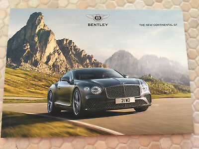 Bentley Continental Gt Preview Soft Bound Sales Brochure 2018 Usa