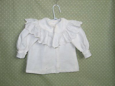 Antique Doll Edwardian Victorian Blouse Embroidered Lace-French ? German ? Doll