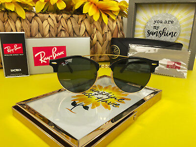 f4a80e02b536d NEW RAY-BAN RB4346 901 Clubround Double Bridge