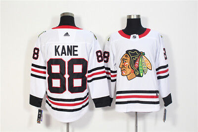 size 40 c792d ae889 MEN'S CHICAGO BLACKHAWKS 88 Patrick Kane White Away Hockey Jersey