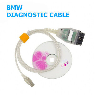 INPA Ediabas K+CAN D-CAN USB Interface OBD2 EOBD Diagnostic Cable For BMW