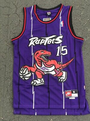 half off 930ca a4e5f VINCE CARTER #15 Toronto Raptors Purple Classic Throwback ...