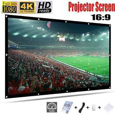 120 Inches Projection Screen 16:9 Foldable Portable Washable Projector Screen UK
