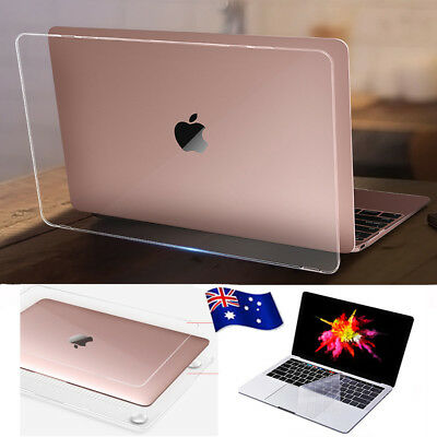 "Transparent Clear Hard Plastic Case Shell for 2018 MacBook AIR 13""A1932 Touch ID"