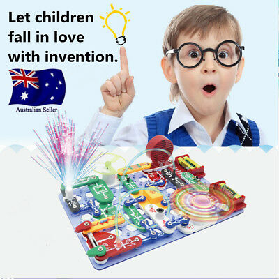 Educational Snap Circuits Electronics Discovery Blocks Kit Science Kids Toy Gift