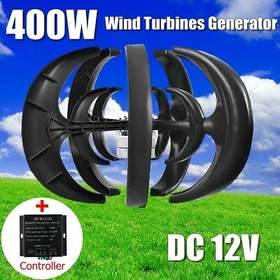 600W 12/24V Wind Turbine Generator Lantern 5 Blade Vertical Axis With