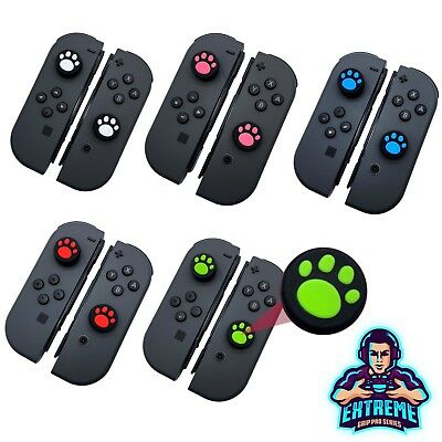 2X Egp Dog Kitty Paw Thumb Stick Grips para Nintendo Interruptor Joy con Mando