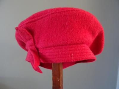 Original Vintage 1940s Young Girls Beret Hat - Dusty Pink Wool