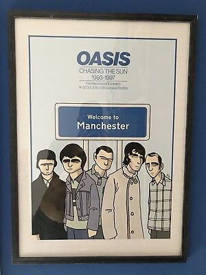 """Poster Oasis """"Chasing The Sun""""  + Testo """"The Man Who Built The Moon"""""""