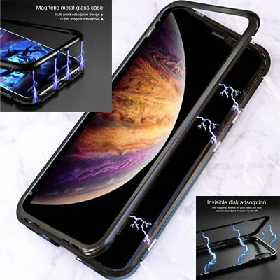 Magnetic Metal Shokcproof Hybired Case Cover for iPhone XS Max XR X 7 8 Plus