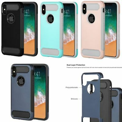 Shockproof Rugged Protective Hard Hybrid Case Cover For Apple iPhone X/XS