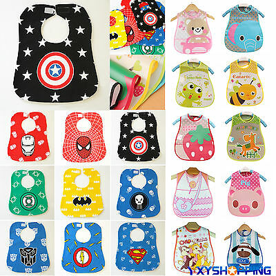 Kids Boy Girl Baby Toddler Bibs Waterproof Saliva Towel Feeding Bandana Apron