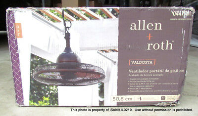 New Allen Roth 20 Valdosta Outdoor Ceiling Fan Dark Oil Rubbed Bronze 5880