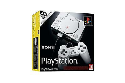 Playstation 1 One Classic Mini Console + 2 Controllers & 20 Games * New Boxed