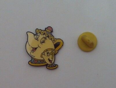 Cartoon Disney BEAUTY & THE BEAST t2 MRS POTTS & CHIP Mint METAL PIN BADGE Pins