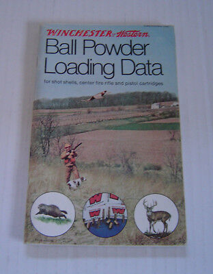 VINTAGE 1976 WINCHESTER Western Ball Powder Loading Data Book 76 Pages