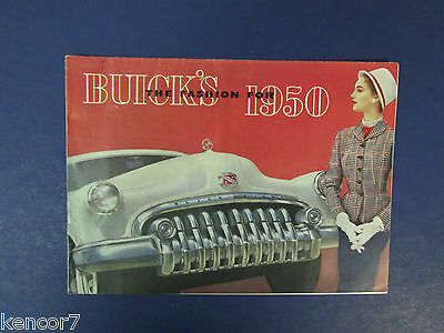 1950 Buick Full Line Sales Brochure D8263