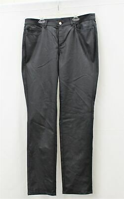 Lafayette 148 New York Thompson Waxed Denim Jeans in Ink Size 12