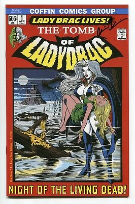 LADY DEATH Hot Shots #1 Tomb of Lady Drac Variant Cover by Steven Butler Signed