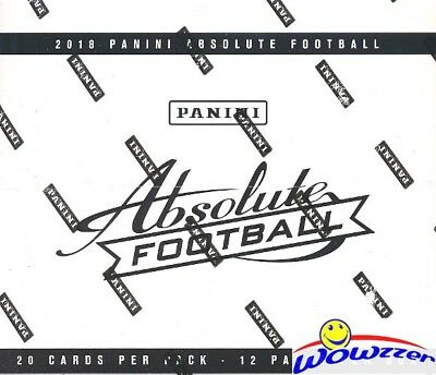 2018 Panini Absolute Football MASSIVE Factory Sealed FAT PACK Box-240 Cards!