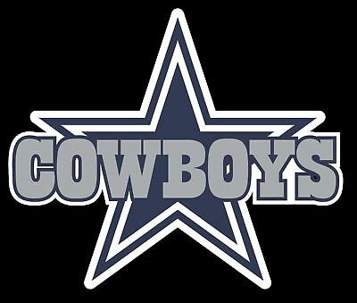 Dallas Star with Cowboys Logo Vinyl Decal Sticker - You Pick the Size