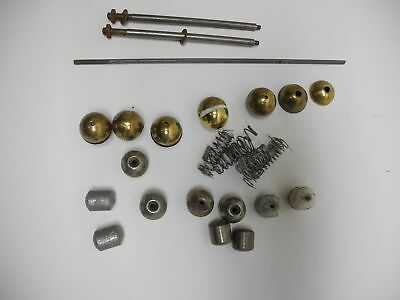 Collection of Vintage Clock Ball Weights, Brass Covers, Springs, Rods and Parts