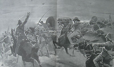 1899 Large Print - Boer War - Final Charge of the Irish Lancers- Elandslaagte