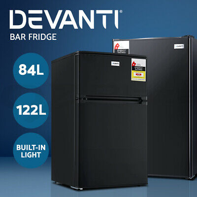Devanti Bar Fridge 85L/127L Mini Portable Freezer Refrigerator Drink Wine Cooler