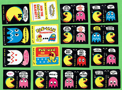 #D100. Set(48) Of 1982 Fleer  Pac-Man / Pacman Stickers