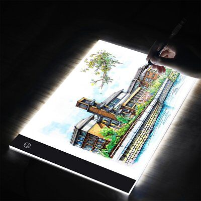 A3 A4 LED Art Craft Drawing Copy Tracing Light Box Tattoo Pad Board Ultra Slim