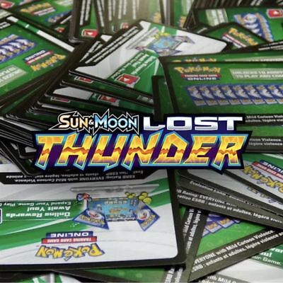 10 POKEMON SUN & MOON - LOST THUNDER TCG Trading Card Game Online Code Cards