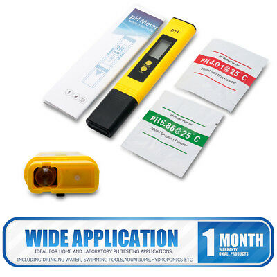 Protable Digital LCD PH Meter Pen Tester for Hydroponics Aquarium Pool Water UK
