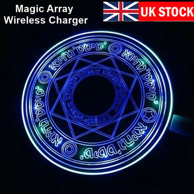 10W Qi Glowing Magic Array Wireless Charger Fast Charger Charging Pad Mat Gift