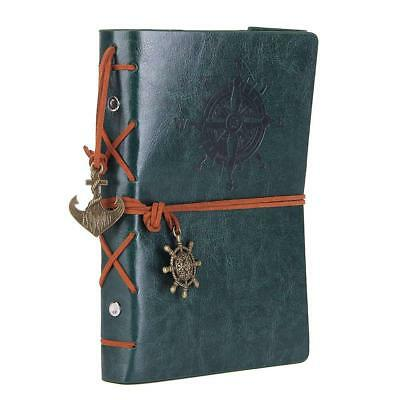 Antique Refillable Leather Journal Travelers Notebook 7 x 4 inch Green Diary