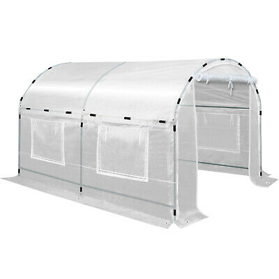 New Arrival 10'x7'x6' Walk-In White Greenhouse Plant Gardening  w Clamps Outdoor