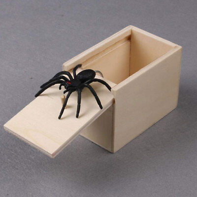 Hot Magic Scary Spider Prank Wooden Scary Box Joke Gag Trick Play Kids Adult Toy