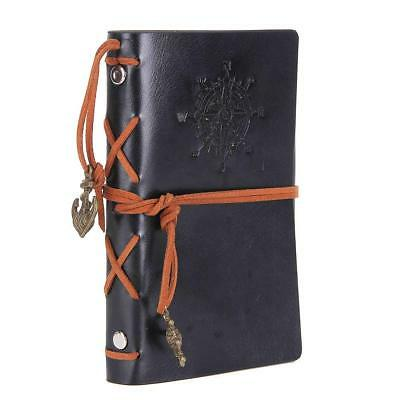 Antique Refillable Leather Journal Travelers Notebook 7 x 4 inch Black Diary