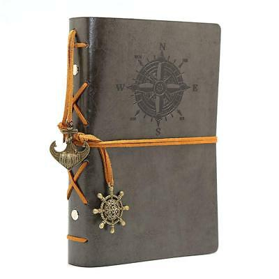 Antique Refillable Leather Journal Travelers Notebook 7 x 4 inch gray Diary