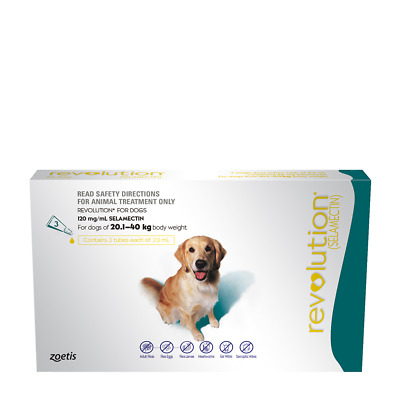 Revolution Green for Dogs weighing 20.1-40kg. 6 pack