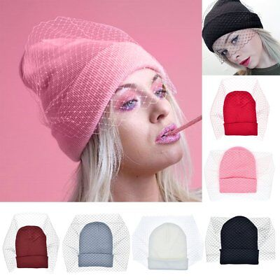 23109eb46 US WOMENS HAT Winter Fox Fur Pom Pom Knit Beanie Trendy Oversized ...